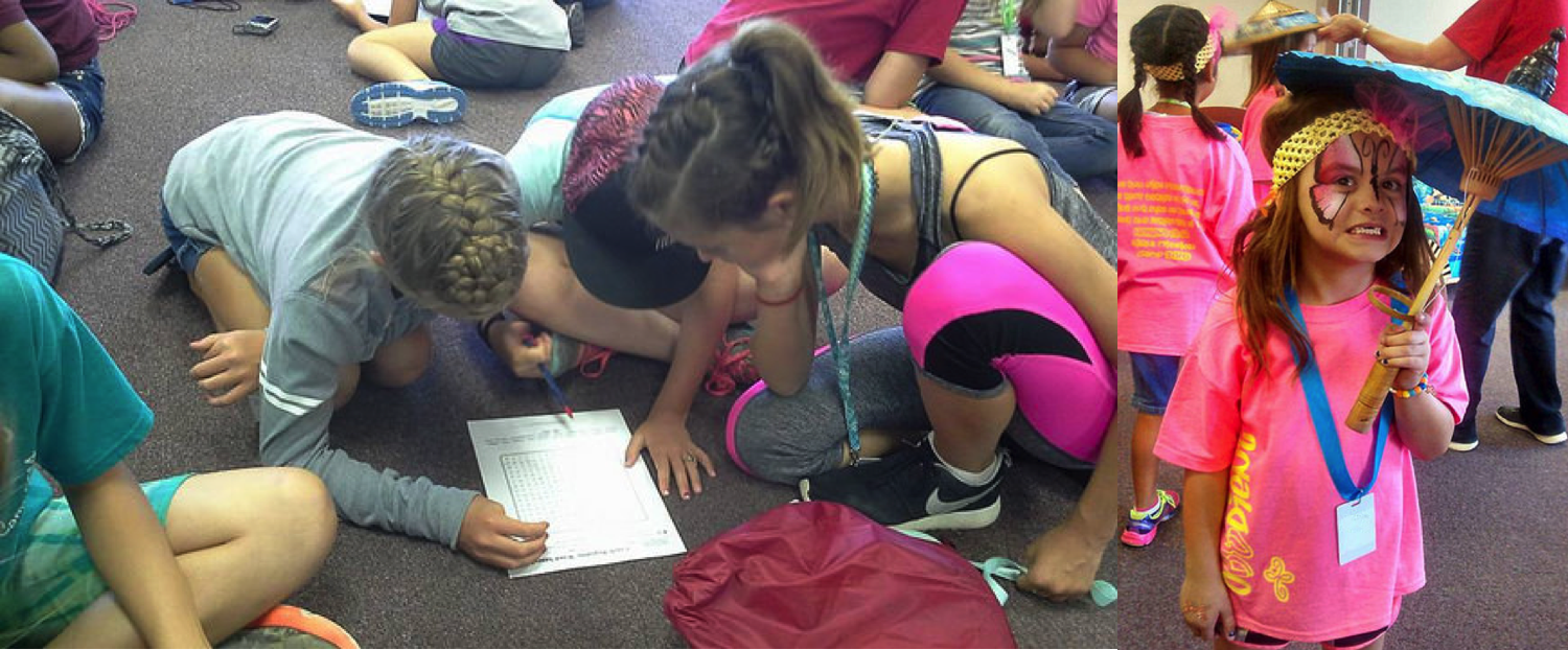 networking hearts and minds during camp activities girls mission